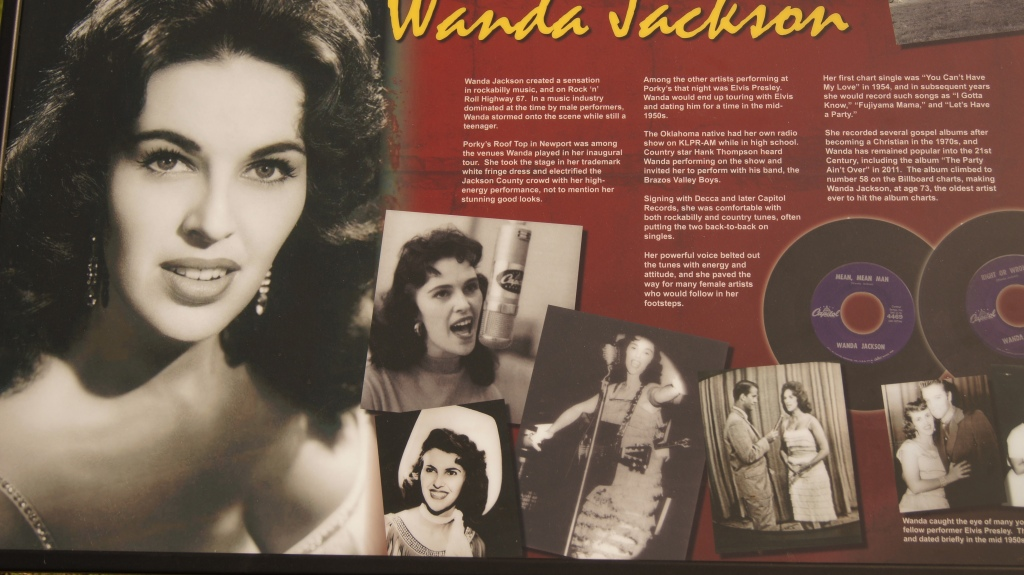 Wanda  is a pioneer of rock-a-billy  she's still going strong -  Recently set the record  for an artist  to hit the billboard at her present age-